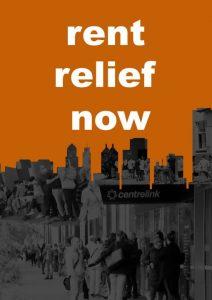 rent relief poster